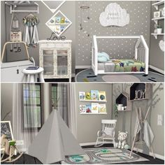 Baby Room Furniture, Sims 4 Cc Furniture, The Sims 4 Pc, Sims Cc, Sims 4 Beds, Sims Packs, Sims 4 Bedroom, Toddler Room Decor, Sims 4 Gameplay