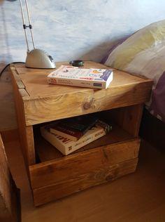 table de nuit table de chevet en bois de palette meubles et rangements par decorecupbois85. Black Bedroom Furniture Sets. Home Design Ideas
