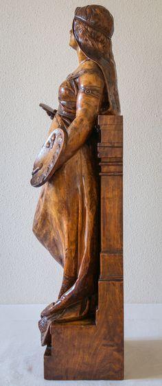 Title/artist unknown (wood, 66 cm)