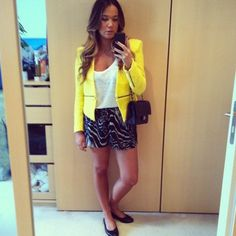 zara blazer, bassike tank, museum shorts, chanel flats and bag