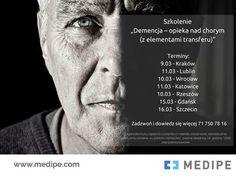 """Zapraszamy na szkolenia """"Demencja – opieka nad chorym (z elementami transferu)"""". Najbliższe już 9 marca w Krakowie! Zadzwoń i poznaj szczegóły 71 750 78 16 lub napisz maila szkolenia@medipe.com"""