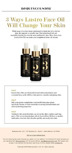 Liquid gold! Love these antioxidant rich oils-- chock full of essential fatty acids that protect, plump, and smooth! Shop them at dena.beautycounter.com