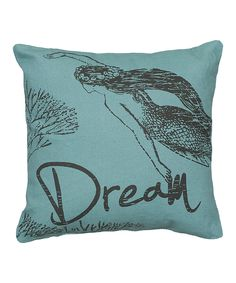 Blue 'Dream' Throw Pillow