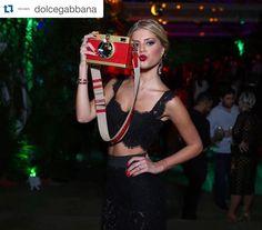 #Repost @dolcegabbana  @lalatrussardirudge looking wonderful in #dolcegabbana at the #DGlovesBrazil party. Ph. @fashiontomax by lalatrussardirudge