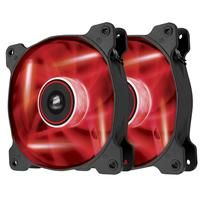 CORSAIR-COMPUTER COMPONENTS-Computer Cases-Corsair Air Series AF120 CO-9050016-RLED Twin 120 mm Case Fans - Red LED, Red-£17.99-Keep your PC cool with Corsair Air Series AF120 CO-9050016-RLED Twin 120 mm Case Fans that feature red LEDs for added effect. These fans are designed for unrestricted spaces with at least 3 cm of clearance, making them ideal for mounting at the top or back of your PC. They will help to cool your processor, graphics card and other components that can cause your PC to…