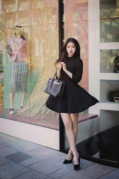 daily 2016 feminine& classy look(MT) Korean Fashion Summer Casual, Korean Fashion Ulzzang, Korean Fashion Street Casual, Korean Fashion Casual, Korea Fashion, Korean Outfits, Asian Fashion, Korean Ootd, Fall Fashion Outfits