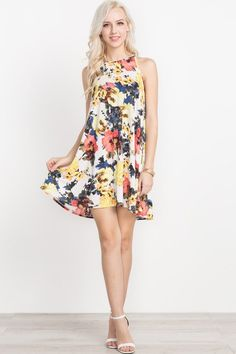 IN STORE The Perfect Floral Sundress Dress. Oh so soft easy breezy dress. Sleeveless style.