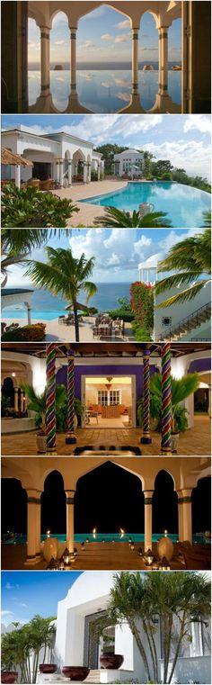 Moraccan palace Toucan Hill Wimco Villa MV TOU #wanderlust #villas #mustique #travel