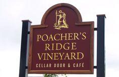 Poacher's Ridge Winery Sign /  Danthonia Designs