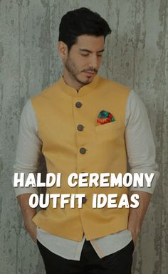 Grab The Attention With These Amazing Haldi Ceremony Outfits Wedding Dresses Men Indian, Wedding Dress Men, Wedding Men, Wedding Bridesmaids, Wedding Gifts, Dream Wedding, Indian Men Fashion, Mens Fashion Blog, Men's Fashion