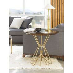 Stanley Furniture Crestaire Milo Round Lamp Table - 436-15-14