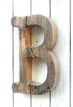 Lettre en bois rustique, lettre bois de Grange inachevée, Baby Nursery, décoration murale, décoration murale en bois lettres