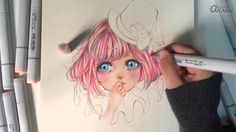 [ H.A ] copic markers coloring and makeup touches
