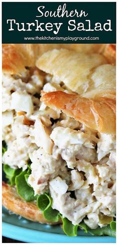 Southern Turkey Salad ~ Take those leftover turkey sandwiches up a notch & make them turkey SALAD sandwiches instead! This Southern Turkey Salad recipe is creamy, loaded with flavor, & a perfectly delicious way to enjoy those turkey leftovers. Turkey Salad Sandwich, Salat Sandwich, Turkey Sandwiches, Turkey Meat Recipes, Leftovers Recipes, Cooking Turkey, Mince Recipes, Leftover Turkey Soup, Turkey Leftovers