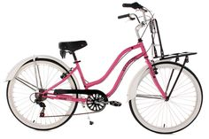 Beachcruiser Damenfahrrad 26'' Melba rosa KS Cycling