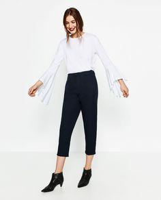 Immagine 1 di PANTALONI PINCES POPELINE di Zara