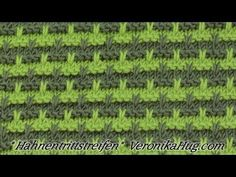 Stricken - Hebemaschenmuster - Hahnentrittstreifen - Veronika Hug - YouTube Cool Patterns, Knit Patterns, Stitch Patterns, Easy Knitting, Knitting Needles, Veronika Hug, Big Knit Blanket, Popular Ads, Jumbo Yarn