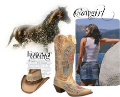 """""""Cowgirl - Forever Young"""" by rcconline on Polyvore"""