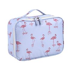 Lalang Flamingo Toiletry Bag Large Capacity Travel Cosmetic Bags Makeup  Pouches Organizer Cases (style 4 35aa90db99b8f