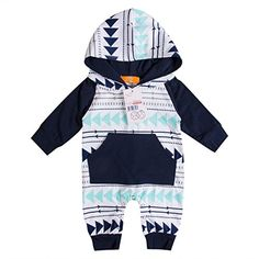 558144740df4 Newborn Baby Boy Clothes · Emmababy Baby Boys Girls Jumpsuit Hoodie Romper  Outfit Lo... https