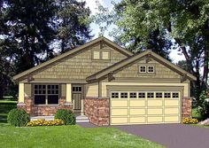 Small craftsman with open floor plan - 1216 sq. ft.