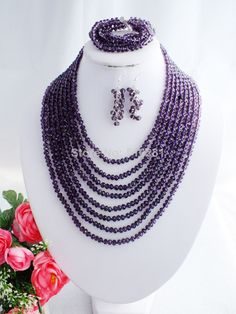 free shipping! Z-1075 Fashion Crystal Jewelry Set $35.11
