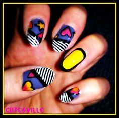 inspired by Nicki Minaj nail art