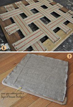 Cómo tapizar un asiento. Es un tutorial muy completo y muy bien explicado!!!!