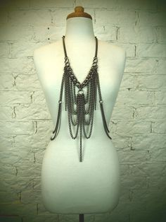 Statement necklace. body chain. Antique. Gothic. Steampunk. Free shipping world wide. by MarjanPetrovski $205.65