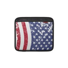 Distressed American Flag - vertical Sleeve For iPads    *This design is available on several other products.