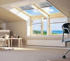 Get the most out of your loft! Install sloping and vertical windows to enjoy your view, the daylight and the feeling of space. Via www.loftlife.net