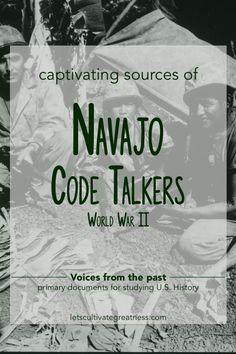 Navajo Code Talkers primary sources