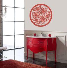 Vinyle autocollant fleurs Cirle modèle chez Wall Decor Sticker élégant amovible murale Design Unique pour n'importe quelle pièce 743 by DecalHouse on Etsy