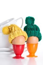 Eggs in hats...of course!