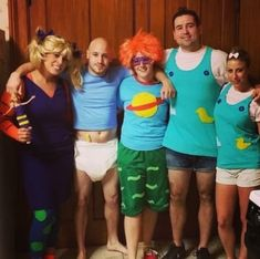 The gang from Rugrats: 34 Brilliant Group Halloween Costume Ideas You'll Actually Like Funny Group Halloween Costumes, Last Minute Halloween Costumes, Couple Halloween, Halloween Outfits, Family Costumes, Halloween Ideas, Homemade Halloween, Halloween Halloween, Halloween Decorations