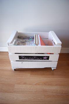 Caja de frutas reciclada...made in dekoratucasa.es