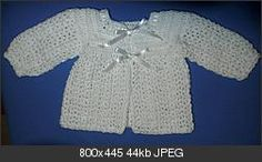 Double Crochet Square Yoke Baby Sweater with Ribbons  free pattern