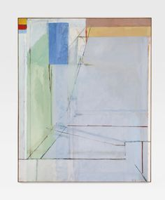 Richard Diebenkorn 1922 - 1993 OCEAN PARK #41 signed with initials and dated 71; signed, titled and dated 1971 on the reverse, oil on canvas 100 x 81 in. Executed in 1971.