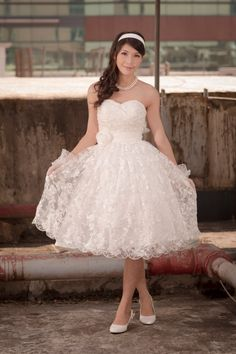 Vintage inspired 50s Lace tea length wedding by 50Timeless on Etsy, $180.00