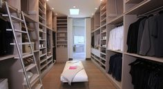 The closet is huge.  (McClean Design)