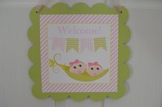 Hey, I found this really awesome Etsy listing at https://www.etsy.com/listing/210456224/sweet-peas-two-peas-in-a-pod-baby-shower