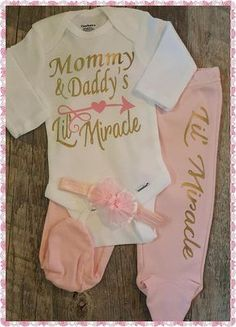 Newborn Baby Girl Going Home Outfit Bodysuit Boy Baby
