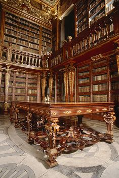 Library of Coimbra University, Coimbra, Portugal... I'm changing my trip just so I can see this place
