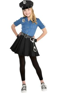 Kids Girls Officer Cutie Cop Costume Size S Halloween Multi-Colored Kids Costumes Girls, Toddler Costumes, Girl Costumes, Costumes For Women, Costume Ideas, Halloween Costumes For Girls, Halloween Kids, Group Halloween, Cheerleader Costume For Kids