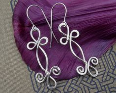 Celtic Sterling Silver Wire Earrings  Double by nicholasandfelice, $22.00