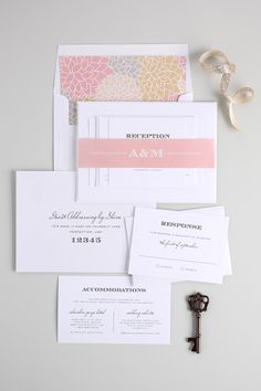 Antique Wedding Invitations in Champagne and Blush from @shinewedding