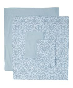 Take a look at this Blue Belfort Sheet Set by Ma Maison on #zulily today!