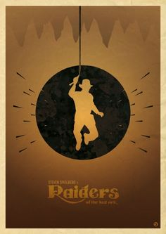 Raiders of the Lost Ark minimalistic movie poster