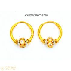 22k Gold Baby Bracelet With Cz Totaram Jewelers Indian Jewelry 18k Diamond Pinterest