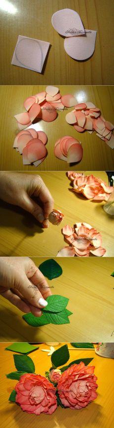 Роза из фоамирана.